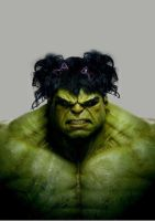 Bad Hair Hulk by bruno-sousa