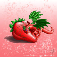 Strawberry Dragon by Aniseth-LightWing