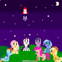 Retro Pony Pixels New Years Eve : The Game by Zztfox