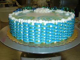 Blue and Green Basket Weave by Kahlan4