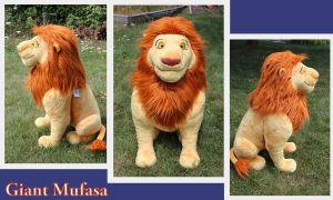 Jumbo Mufasa plush by Laurel-Lion