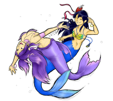 Colour: Ningyo Hime and Alicia Nemon by Charming-Manatee