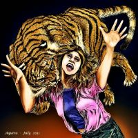 Tiger attack by artaquilus