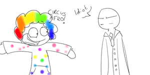 PastaMonsters fanart: CIRCUS AFRO by Emeraldddd