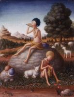 Daphnis and Chloe, reed pipe by perodog