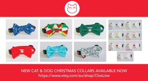 New CHRISTMAS Cat and Dog Collars by Ardengrail