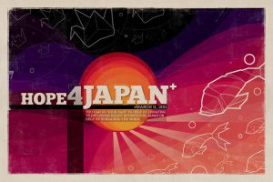 Hope 4 Japan Poster by jennduong