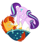 Starlight Glimmer and Sunburst by Alanzamanza