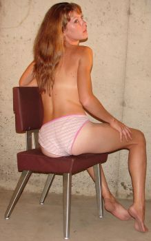 Danielle Seated Pink Panties 1 by FantasyStock