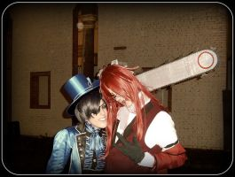 Grell + Ciel at Lucca 2009 by PsYcHoWoNdErLaNd