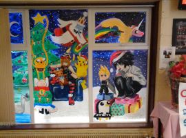Anime School Window! ^-^ by Xox-dreamer-xoX