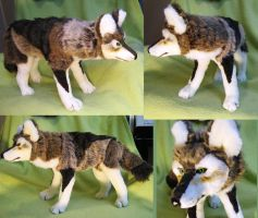 Dad's timberwolf soft sculpture by Jarahamee