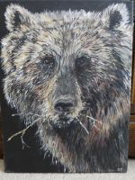 bear portrait by acrylicwildlife