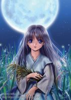 The girl under The Moon by acory