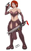 Masked Sword Lady by archaznable30