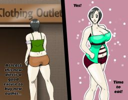 Yuffie Gains Weight-17 by Hisano-x