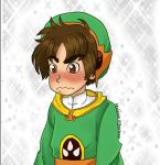 Blushy Syaoran Baby by LittleGreenHat