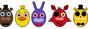 FNAF Easter eggs by Mysticalblackangel