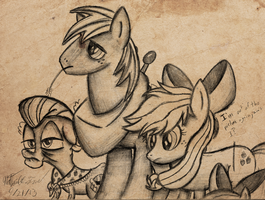 Apple Family Portrait by AncientOwl