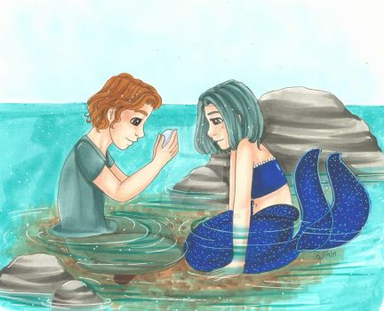 Day 10: Human and a Mermaid by chelleface90