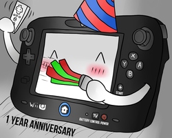 1 Year Anniversary of the Wii U by thegamingdrawer