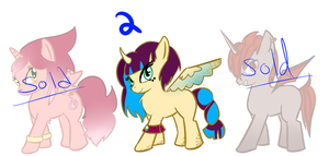OPEN. Cheap Pony Adopts (ONE LEFT) by MidNightsCastedAngel