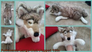 Folkmanis Large Wolf Puppet 13in by Vesperwolfy87