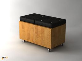 3d furniture box model by AndexDesign