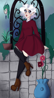 TH SS: a garden rose by LunaBell
