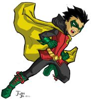 Robin The Boy Wonder Colored by Juanjo Silva by juanjosilva