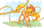 Applejack drawn on dA muro by bloominglove