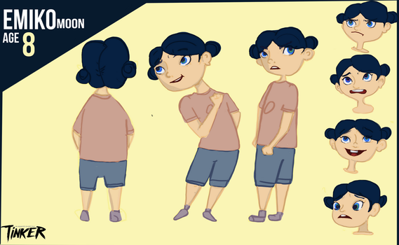 Character Sheet - Young Emiko by frenchemily
