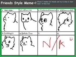Friends style meme by Artist-Who-Draws