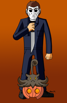Michael Myers wants to battle by MobianMonster