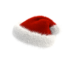 Christmas Santa Hat PNG 180 degrees on transparent by Vitaly-Sokol