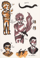 Good omens sketches by EnPrison