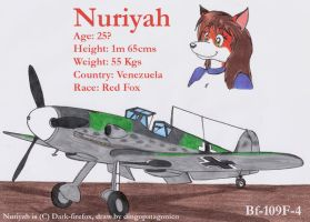 Nuriyah and her Bf-109F-4 by DingoPatagonico