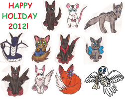 Holiday chibis 2012 by Greenpolarbear47