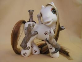 """Pony Ride"" a ferret MLP by eruna"
