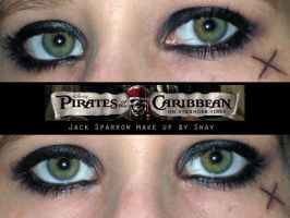 Jack Sparrow Girl make up by Toxic-Sway