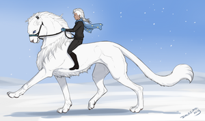 Snow Dressage by Danesippi