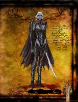 Drow Fighter by thedarkestseason