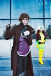 Gambit and Rogue by NamieRikai