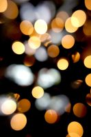 Golden Bokeh I by LDFranklin