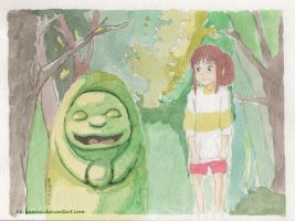 Spirited away- Watercolor Practice by fifi-kawaii