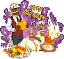Happy Halloween by Akane-The-Fox