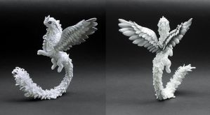 White and silver dragon by MyOwnDragon