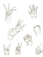 Sketchy Hand Positions by Priie