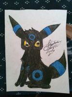 Shiny Umbreon sketch by Miku-chan9