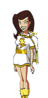 Mary Marvel DCAU style by Azraeuz